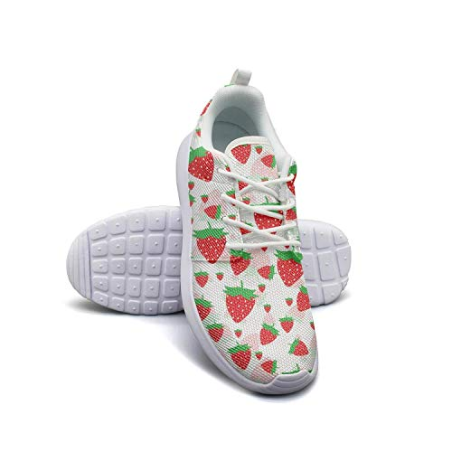 Strawberry Festival Strawberry Print red Woman's Flat Bottom Casual Shoes Sneakers New Basketball Shoes