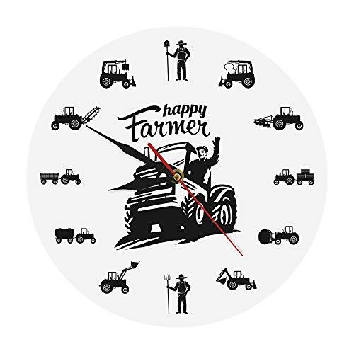 HHKLSF Happy Farmers Agrícola Máquinas Tractores Reloj de