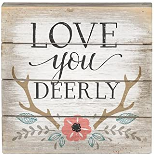 Susie85Electra Love You Deerly Rustic Wood Sign Deer Sign Deep Farmhouse Decor Country Decor Wedding Sign