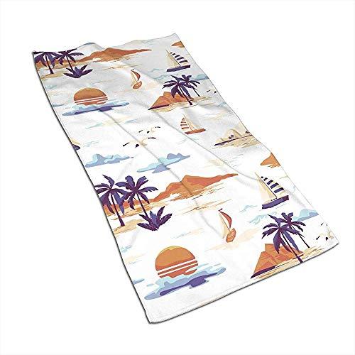 Asciugamani da cucina vintage con paesaggio dell'isola, strofinacci, lavabili in lavatrice, strofinacci da cucina, strofinacci per asciugare, pulire, cucinare, cuocere al forno (40X70 cm)