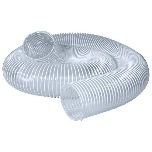 POWERTEC 70219 PVC Dust Collection Hose (3 Inch x 10 Feet) | Flexible Clear Vue Heavy Duty PVC Hose