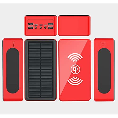Tcbz Banco de energía Solar/Cargador Solar Banco de energía/Cargador Solar portátil Banco de energía/teléfonos celulares Bancos de energía portátiles / 50000mah Banco de energía, Rojo