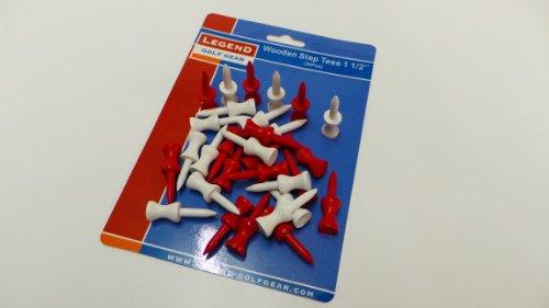 Legend Golf Plastik Step Tees 1 1/2 Inch 30 Stück Farbe: Rot und Weiss
