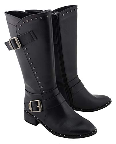 Milwaukee Performance MBL9423 Womens Black Studded Boots with Studded Outsole - 7