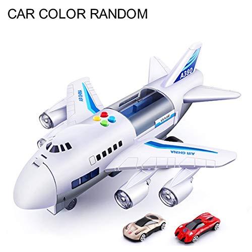 Greatangle Kinderflugzeug Spielzeug Simulation Flugzeug Spielzeug Passagier Flugzeug Auto Modell Großes Passagierflugzeug Kinderflugzeug Spielzeug Weiß + Blau A.