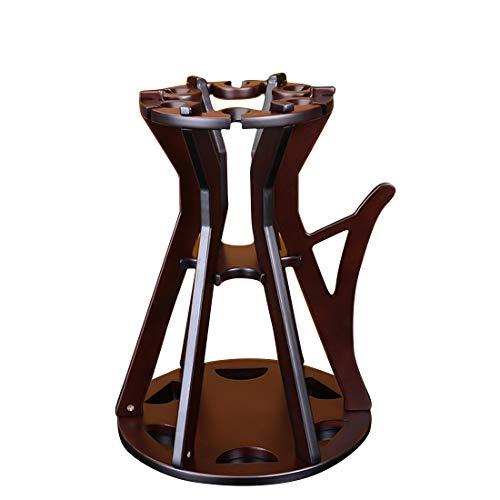 JESSIEKERVIN YY3 Artículos para el hogar Tetera de Madera en Forma de Botella Individual Vino en Rack (Color : Brown)