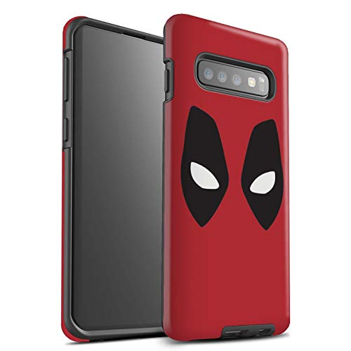 Matte Phone Case for Samsung Galaxy S10 Plus Super Hero Comic Art Deadpool Mask Inspired Design Matt Tough Shock Proof Bumper Cover