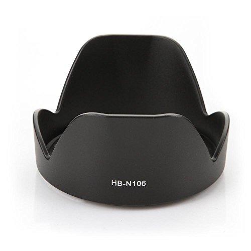 CELLONIC® Paraluce HB-N106 Compatibile con Obiettivo Nikon AF-P DX Nikkor 18-55 mm 1:3.5-5.6G VR, Nikkor 10-100mm f/4-5.6 VR Parasole, Cappuccio, Paraluce di Lente, Visiera di Sole