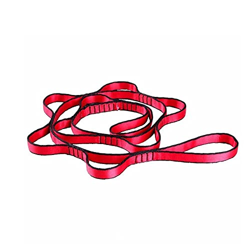 Heigmz yjd - Cuerda de escalada para yoga y cuerda de escalada para crisantemo, yoga, elástica, correa extensora, cuerda para aérea, yoga, hamaca y volar, antigravedad (color: 1 pieza roja)