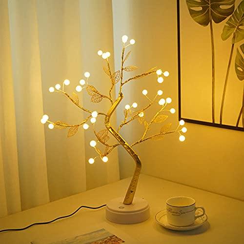 VUENICEE Lámpara de Árbol, Árbol Bonsái de Luces Led, Árbol Bonsái Lámpara,Luces de Noche de árbol Bonsai, Lámpara para Fiesta, Decoraciones