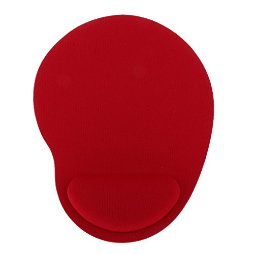 Comfort Soft Gel Rest Wrist Support Mat Mouse Pad Gaming Cheap 6 Colors - Red
