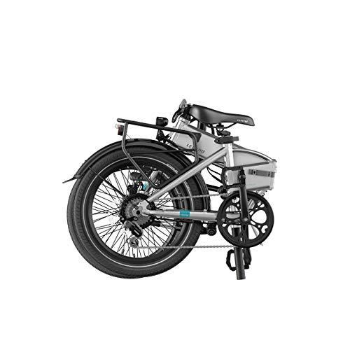 Legend Monza Vélo Électrique Pliant Smart eBike Roues de 20 Pouces, Freins Disque Hydraulique, Batterie 36V 8Ah (288Wh), Bleu Steel
