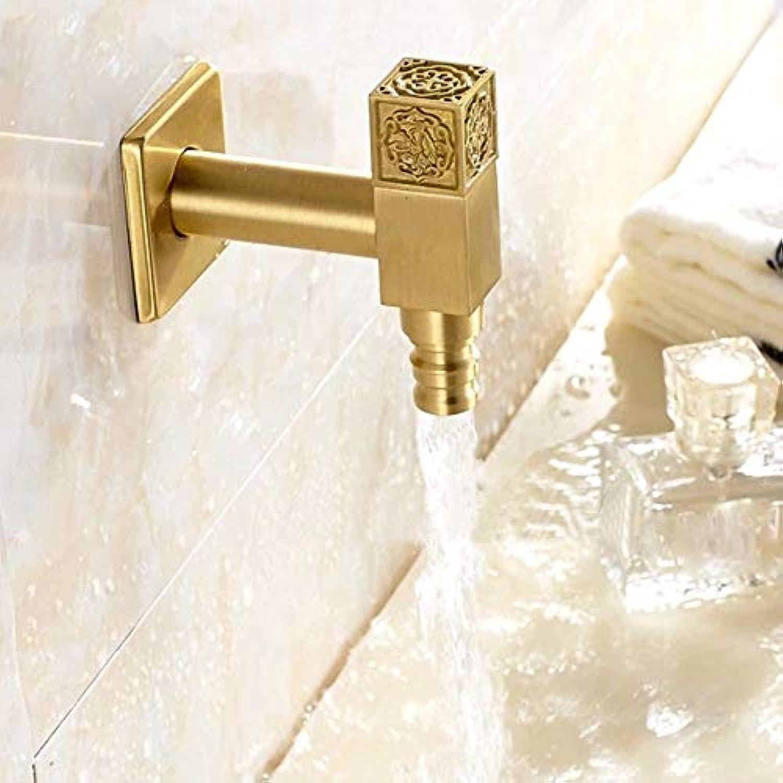 XINSU Home Waschbecken-Mischbatterie Badezimmer-Küchen-Becken-Hahn auslaufsicher Save Water Antique Copper Single Cold