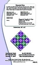 Clearance Sale~Pattern, Transparent Stars by Karen Combs, Quilt, Illusion Technique