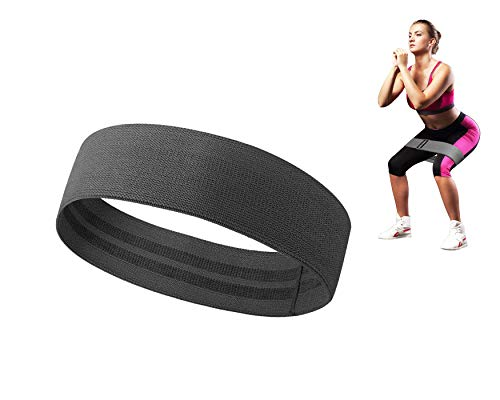 Slyk Non Slip Resistance Loop Bands for Squat Legs Butt Thighs Hip Glutes Yoga Pilates Workout Exercise Fabric Bands for Men Women (Large - 15.5 inch)