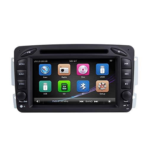 ZLTOOPAI für Mercedes Benz W209 W203 W168 W163 W463 Viano W639 Vito Vaneo-Serie Doppel-Din-Head-Einheit 7-Zoll Screen Autoradio GPS Radio mit kostenloser Kartenkarte Rückfahrkamera-Ausbau-Tools
