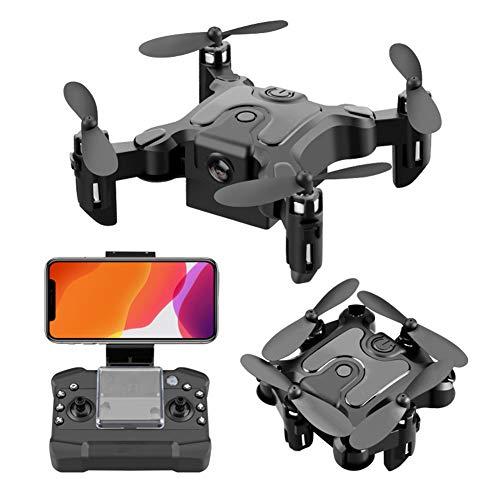 POI Mini Drone Plegable para los niños Regalo Portátil Portátil Quadcopter Viene con un Conjunto de vidrios VR con el Modo de altitud y el Modo sin Cabeza fácil de Volar para los Principiantes