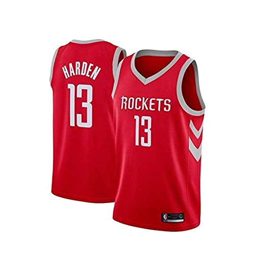 HANJIAJKL Maglia da Basket NBA Uomo,Houston Rockets # 13 Mesh Basketball Swingman Jersey,Uomo Maglie Sportive Senza Maniche,Red a,XL