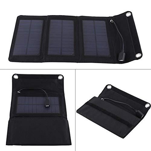 Oreilet El Panel Solar de 5W 5V USB, Cargador Solar, para Acampar, Pescar, Trabajar al Aire Libre, Caminar