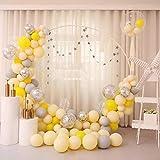 Globos de látex con guirnalda, 176 unidades, globos, macaron, globos, set para niñas, cumpleaños, bebé, ducha, bailarina, fiesta, boda, decoración, rosa/azul/amarillo/verde, Amarillo