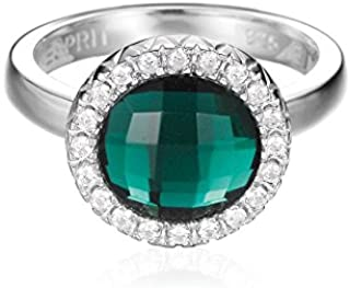 ESPRIT Classiness Lime Women's Ring Sterling Silver 5.7 g zirconium Oxide Crystal Green