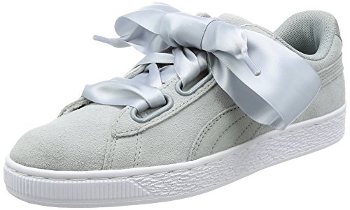 PUMA Damen Suede Heart Safari Sneaker, Grau (Quarry-Quarry), 41 EU