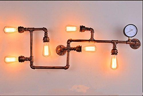 YU-K strijkijzer water wandlamp Rusty Retro Café Industrial Wind Gang Decoratie Balkon individuele Amerikaanse restaurant bar 100 * 40 cm
