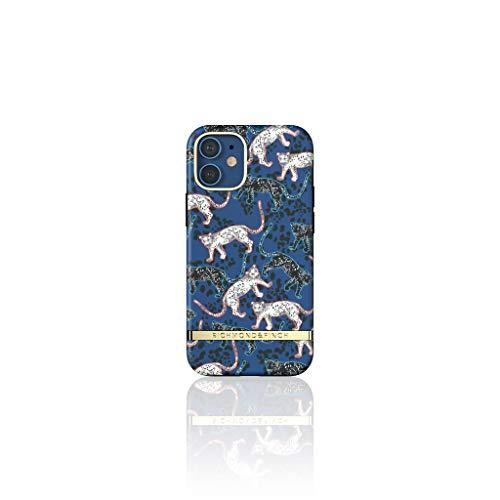 Richmond & Finch Diseñada para iPhone 12 Mini 5.4 Fundas, Azul Leopardo Fundas para iPhone 12 Mini 5.4