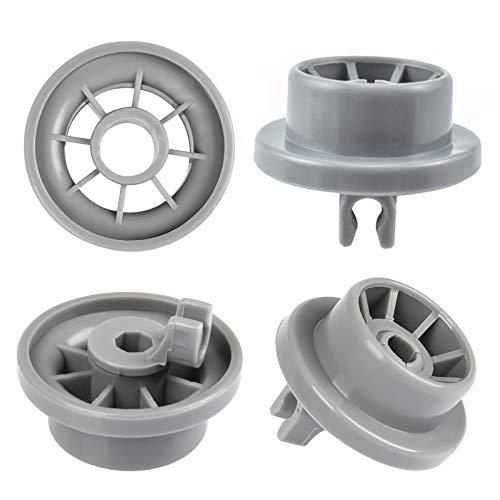 YOTINO 4Pcs Lavavajillas ruedas, cesta rollo lavavajilla se puede bajo Lavavajillas para BOSCH, SIEMENS