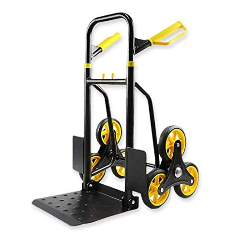 DXMRWJ Stair Climber Hand Truck, 440 Lbs Climbing Trolley Cart with 6 Wheels for Closet, Storage Rooms, Garages