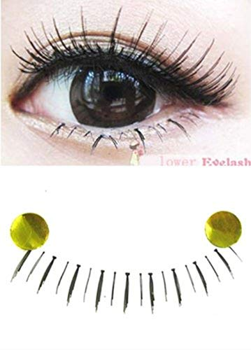 C.X.Z Hot Lady Girl Charming Lower Bottom False Eyelashes Handmade Under Fake Eye Lashes Clear Strip Band (30 Pairs) by C.X.Z