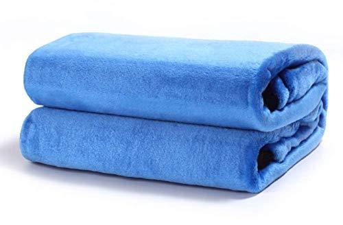 TIENDA EURASIA Mantas para Sofá de Terciopelo - Material 100% Microfibra - Tacto Suave Sedalina (Azul, 130 X 160 CM)