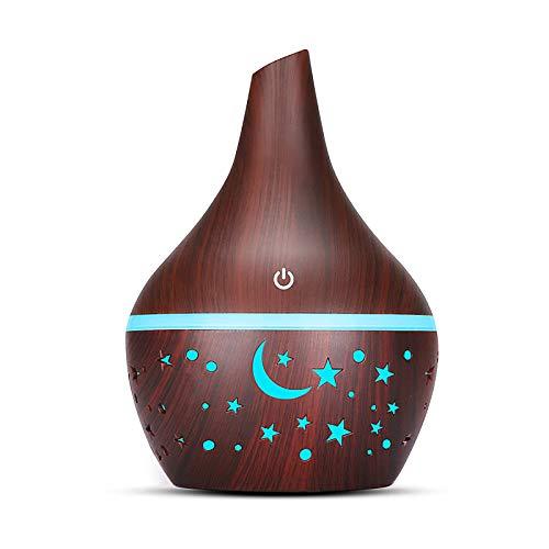 Houkiper Difusor De Aromaterapia, Difusor De Aceite Esencial De 300 Ml, Difusor De Aroma Cool Mist, 7 Luces Led De Color