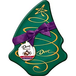 Image of DOVE Chocolate Truffles Assorted Tree Box Tin Christmas Candy Gift, 5.64-Ounce Tin: Bestviewsreviews