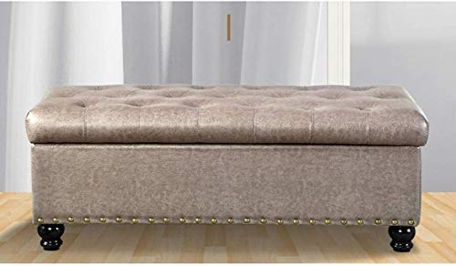 Storage Benches Hallway Entryway Shoes Bench Rectangle Ottoman Storage Footstool Upholstered Seat Solid Wood Leg Living Room Bedroom Sofa Stool, Max 300kg (Color : B, Size : 80cm/31.5in)