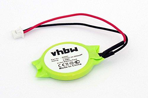 vhbw Li-Ion Bios Batterie 200mAh (3V) Notebook Laptop Fujitsu Lifebook E4010, E4010D, E6355, E6540, E6560, E6570, E6575 wie G4221, 3E158, u.a.
