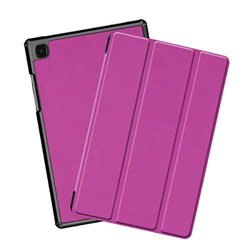 QiuKui Tab Funda para Samsung Galaxy Tab A7 10.4 SM T500 T50 T50 T50 T507, Cubierta de Cuero de la Caja de la Tableta magnética para la pestaña A 10.4 2020 (Color : Purple)