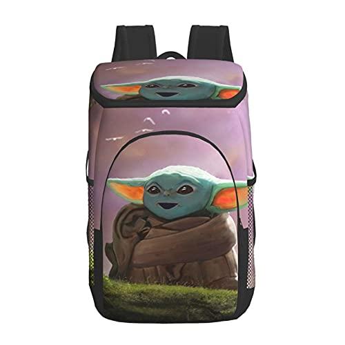 Star Yoda Wars - Mochila térmica para almuerzo, para picnic, para mujeres, hombres, adolescentes, niños, bebés, picnic, escuela, trabajo, oficina