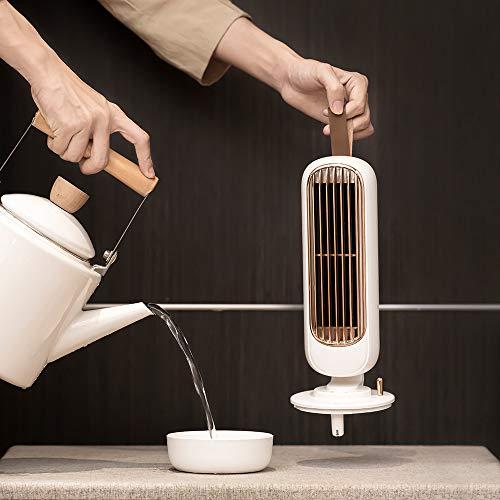 LIUYUMAO冷風扇扇風機卓上冷風機USB扇風機羽なし超静音軽量自然風レトロ冷風扇風機加湿器220ml3段階風量調節熱中症対策タイマー設定加湿送風省エネ寝室車載部屋オフィス小型冷風扇