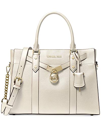 Michael Kors Michael Kors Nouveau Hamilton Handbag In Cream Leather White