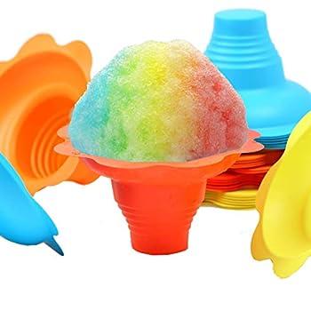 Paragon 4-Ounce SNO-Cone Flower Drip Tray Cups Multicolor 100-Cup Case