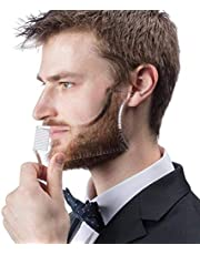 Tools For Bearded Diecast,LucBuy Transparent Paint Comb For Buck Beard Moustache Sidebuns Facial Hair Trimming Grooming Guide for Men Jaw Cheek Neck Line Symmetrical Curve
