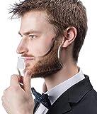 LucBuy Guida per Barba Strumento Shaper o Modello Trasparente per Il Taglio e la rasatura, Modella Il Modello con 4 Linee di Controllo per Grooming e Pettine per Baffi