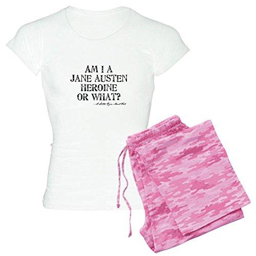 CafePress Jane Austen Quote Womens Novelty Cotton Pajama Set, Comfortable PJ Sleepwear