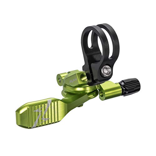 Funn UpDown Mountain Bike Dropper Seatpost Remote Lever with Smooth, Easy-to-use Action, 4-Way Mount, Full CNC Finish, Lightweight and Stiff (Green)