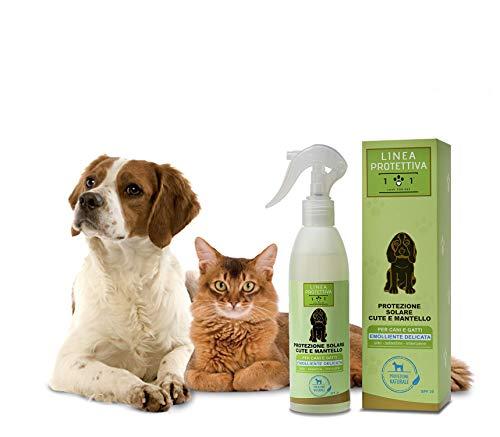 Natürlicher Sonnenschutz Spray für Hunde und Katzen, 250ml - Schützt vor Sonnenstrahlen und Sonne - Sun sonnencreme Fluid, Linea 101