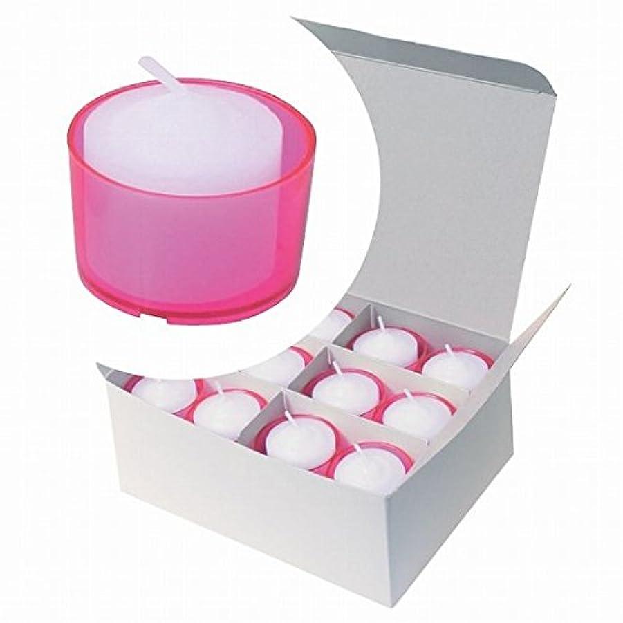 むちゃくちゃアルバニープラカードカメヤマキャンドル(kameyama candle) カラークリアカップボーティブ6時間タイプ 24個入り 「 ピンク 」
