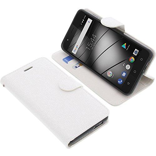 foto-kontor Tasche für Gigaset GS270 / GS270 Plus Book Style weiß Schutz Hülle Buch