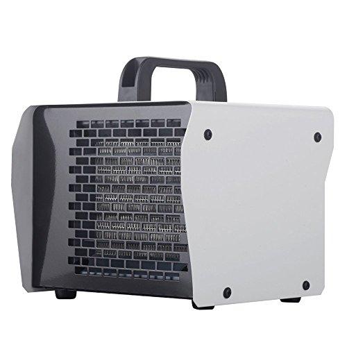Homeleader éclectique riscaldamento in acciaio inox, Riscaldatore a soffio, potenza regolabile 2000W/1000, colore: grigio, ALP-020S-01-W