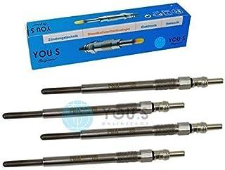 YOU.S 05175756AA Lot de 6 bougies de pr/échauffage 148,5 mm Tension 4,4 V